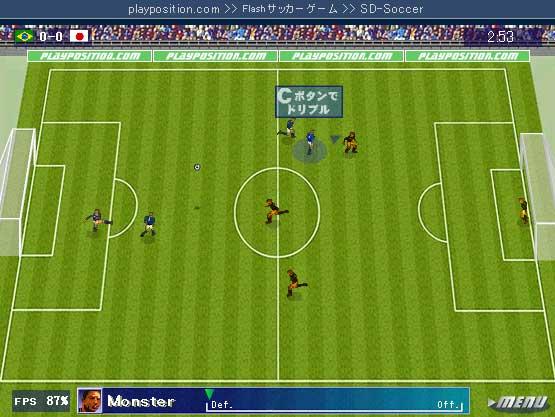 Flashサッカーゲーム